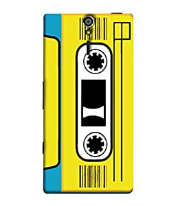 FUSON Designer Back Case Cover for Sony Xperia SL :: Sony Xperia S :: Sony Xperia SL LT26I LT26ii (Tape Cassette Black Film Screws Old Player)