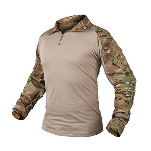IDOGEAR G3Rapid Assault Lange Ärmel Combat Shirt mit Ellbogenpolster Herren Multicam Kleidung Camo Military Tactical Airsoft Paintball Gear, Multicam -