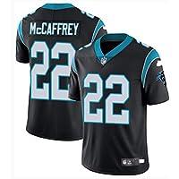LYLSH Camiseta de Rugby Jersey Football Panthers 22# McCAFFREY Camiseta de Hombre Ropa Deportiva para Adultos y niños (Negro,L)