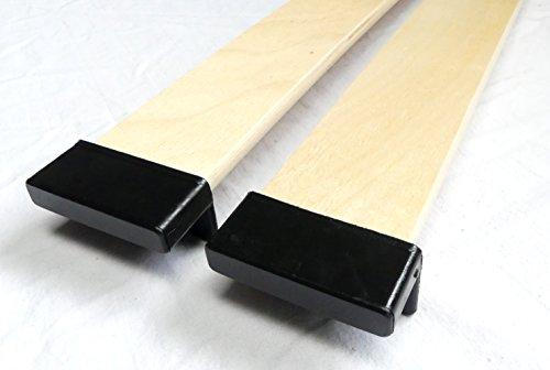 BOSSASHOP.de 10er Paket Kappen zur Befestigung von Leisten im Lattenrost (8mm x 55mm)