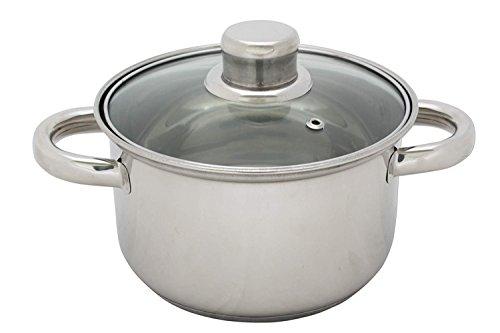 FAITOUT ACIER INOXYDABLE AVEC COUVERCLE VERRE - 24 cm - 5.2 litres