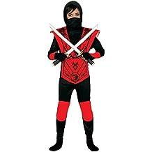 Guirca - Disfraz de ninja, talla 3-4 años, color negro (83256)