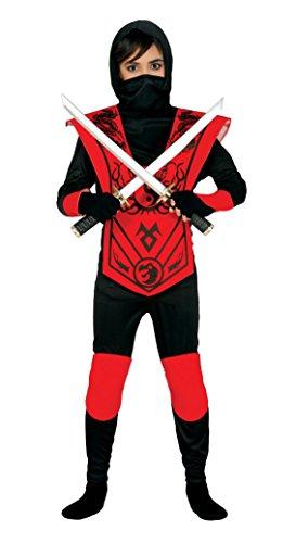 Guirca-Kostüm Ninja, Größe 3-4Jahre, Schwarz (83256)