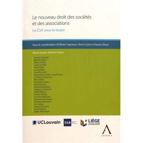 Le nouveau droit des sociétés et des associations : Le CSA sous la loupe