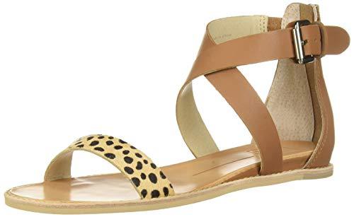 Dolce Vita-gladiator-sandalen (Dolce Vita Damen Nolen Flache Sandale, Leopard Calf Hair, 37.5 EU)