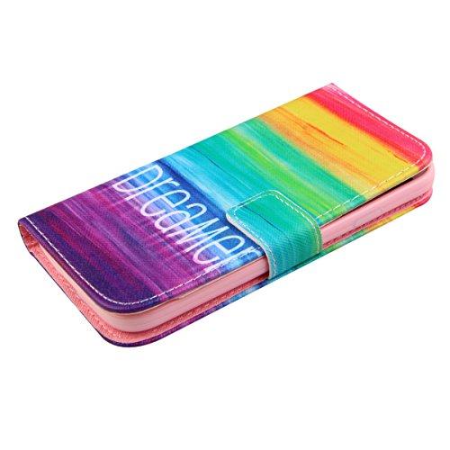 Coque pour Samsung Galaxy S4 Mini, ISAKEN Élégant Style PU Cuir Flip Magnétique Portefeuille Etui Housse de Protection Coque Étui Case Cover avec Stand Support pour Samsung Galaxy S4 Mini I9190 I9195  #2