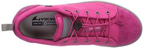 Viking Lom Gtx, Baskets Basses fille Rose - Pink (Dark Pink/Light Grey 3989)