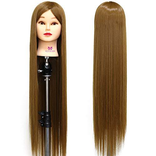 Frisierkopf übungskopf Neverland übungskopf Friseur Frisierkopf Mit Langen Haaren Puppenkopf Modell Kopf mannequin Kopf Synthetische Haare Mit Halter 100% Synthetisches Haar