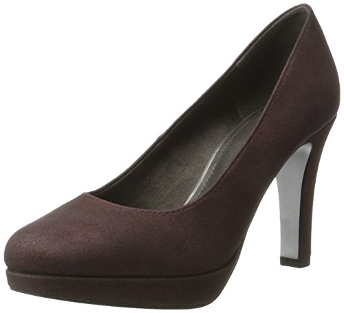 s.Oliver Damen 22400 Pumps, Rot (Bordeaux Metal), 39 EU