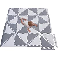 Zerone Foam Exercise Floor Mats 9Pcs 30 * 30cm Interlocking Imitation Soft Foam Exercise Floor Mats Outdoor//Indoor Protective Flooring Mats for Gym Yoga Play Area etc. Exercise