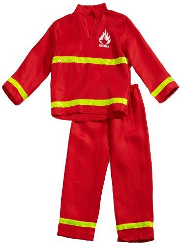 feuerwehrjacke kinder Funny Fashion 403082 - Feuerwehrmann, 2-teilig, Größe 164