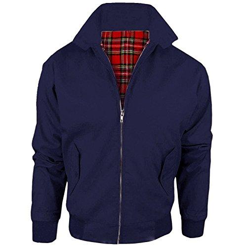 MYSHOESTORE - Chaqueta - chaqueta - Básico - Clásico - Manga Larga - para hombre Azul azul marino X-Large