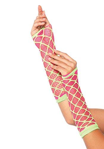Netz Arm Warmers (Leg Avenue 2716 - Neon Arm Warmer, Einheitsgröße (Neon Pink & Limone))