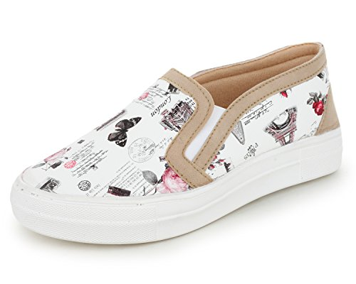 Trase Comfy Black / White Loafer & Sneaker / Casual Shoes for Women / Girls