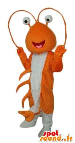 Gigante mascotte SpotSound Amazon aragosta, arancione e bianco (Bianco Aragosta)