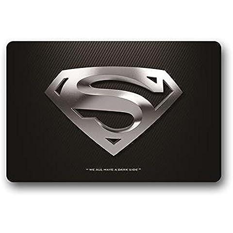 Super hombre justicia lseague DC Comics Super Hero logotipo personalizado máquina lavable Felpudo baño decoración de la cocina alfombra/Felpudo (23,6x 15,7)