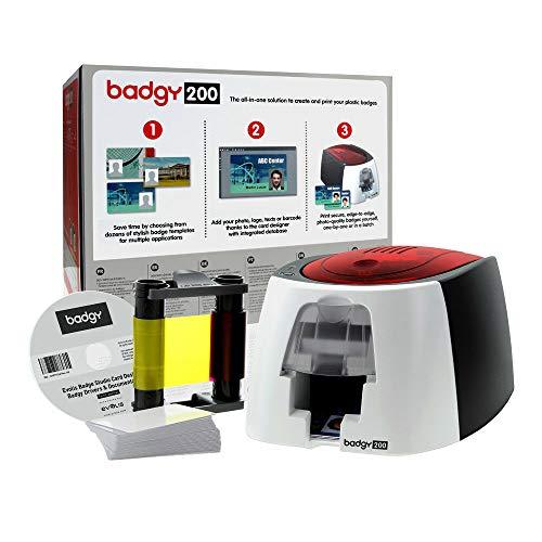 Evolis Badgy 200 Plastikkarten-Drucker-Starter-Set, Software, Bandkarten, Crads - Badgy Drucker