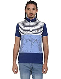 Wear Your Mind Blue Polyester Polo Tshirt For Men WP318.3