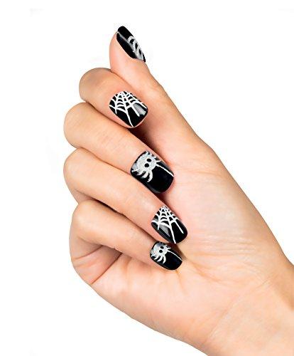 Boland–Fingernagel Aufkleber Spinnennetz Webby Womens, schwarz/weiß, One Size, 01507