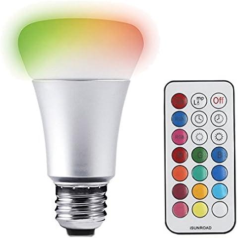 Joyland 10W Bombilla LED de luz RGBW–Lámpara mágica, cambia de color, con mando a distancia