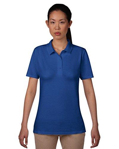 Women´s Double Piqué Polo Royal Blue