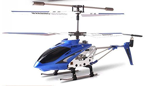 ConPush Helicopter SYMA S107G 3 Channel RC with Gyroscopic Tergiversate (Blau)