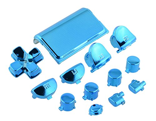 Clear Blue H for Happy Home Replacement Full Buttons Custom Mod Kit Set For Sony PS4 Playstation Controller