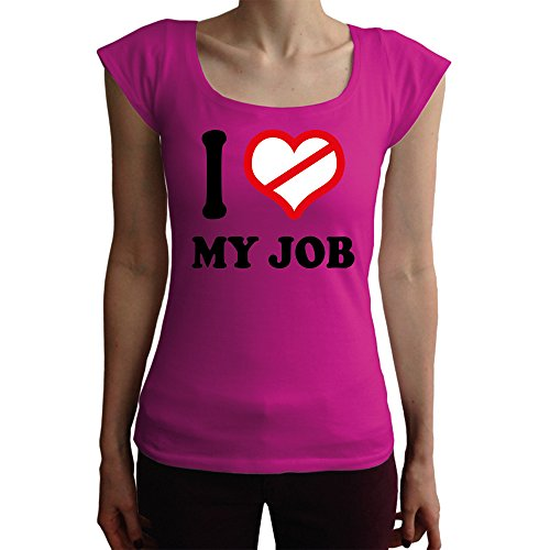 I don't love My Job Damen T-Shirt, pink, XL