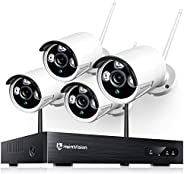 Heimvision HM241 1080P Wireless Security Camera System, 8CH NVR 4Pcs Outdoor WiFi Surveillance Camera with Nig