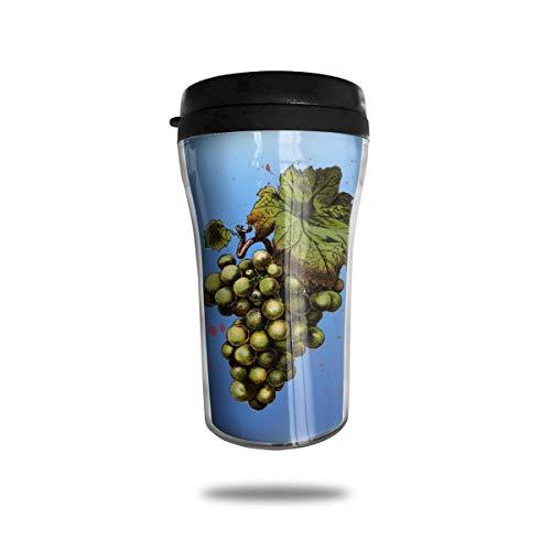 Liquid Grape Flavor (Green Grape Painting 8.45oz Coffee Mugs Birthday Gifts Insulated Travel Mug Leakproof)