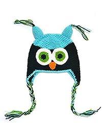 374b80276e9f Samgu Tricot Crochet Bébé Enfant Enfants Eagle Hibou Chapeau Beanie ...