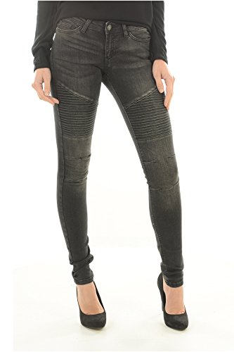 Noisy may Eve Lw Super Slim Biker-Jeans Donna    nero 27W x 32L
