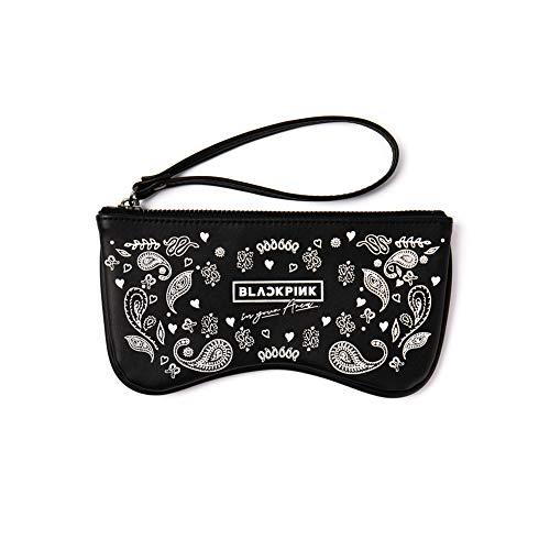 YG Entertainment Select Sonnenbrille, mit Tasche, Schwarz/Pink