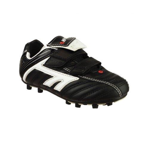 Hi-Tec League EOS - Chaussures à crampons - Garçon Noir/Blanc