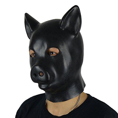 arz Pig Kapuze Maske sexy Gummi Fetisch Maske (Latex Maske Schwein)