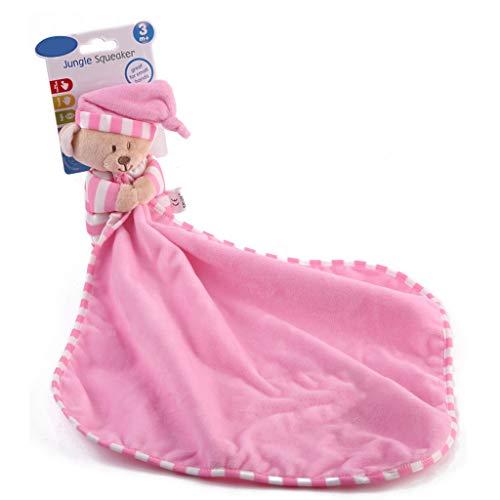 Lamdoo Baby Schnuller beschwichtigen beruhigen Handtuch Cute oon Bär weichem Plüsch Pflege gefüllte Spielpuppe Säuglingsschlafen - Rosa - Hängende Handtuch Bar