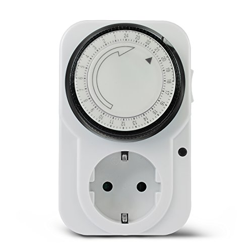 Vivanco TG-3, Temporizador programable manual 24 h con enchufe, Blanco