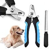 SXYHKJ Tagliaunghie per Cani e Gatti,tagliaunghie Professionale in Acciaio Inossidabile con Guardia di Sicurezza per Animali Domestici per Evitare Tagli,Adatto per Media e Piccoli Cane/Gatto(Blu)