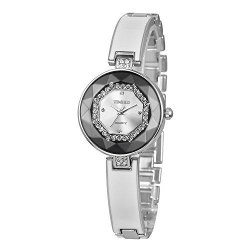 Time100 moderne Armbanduhr Damenuhren Mädchenuhr Junguhr rund #W50284L.03A