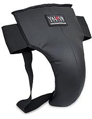 Coquilla de boxeo Abdo Jock Strap taza Thai abdominal pantalla adulto Muay golpes Defensor, color negro, tamaño small