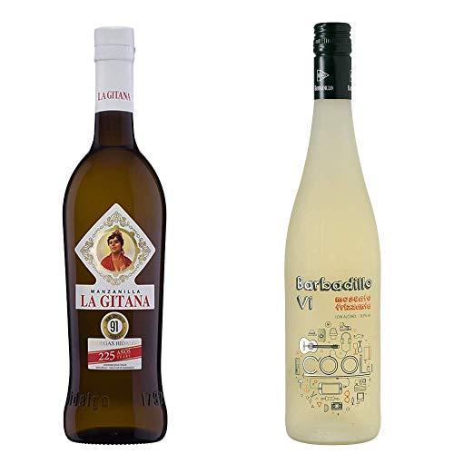 Manzanilla La Gitana Y Barbadillo Vi - D. O. Manzanilla De Sanlúcar De Barrameda Y Vino Blanco - 2 Botellas De 750 Ml