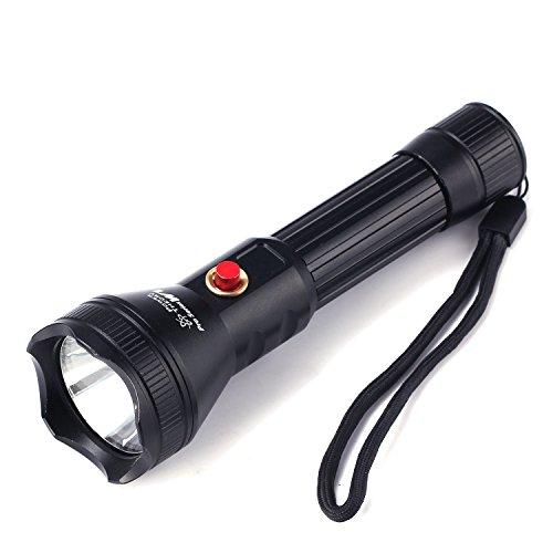Preisvergleich Produktbild Power Theory W1 Wasserdichte CREE LED Taschenlampe SET - Wiederaufladbare 18650 Batterie mit integrierten Tiefentladeschutz, 5 Stufen Zoom Fokus, Outdoor Tactical Flashlight zum Tauchen.