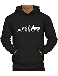Lustiger Herren Kapuzenpullover Evolution Traktor