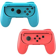 MoKo Nintendo Switch Mandos Joy-Con Grips - [2 Paquetes] Handle Kits para Nintendo Switch Controlador, Rojo & Azul