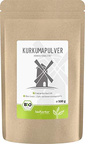 BIO Kurkuma Pulver gemahlen 500g | Kurkumapulver - Curcuma - Curcumin | 100% naturrein | Rohkostqualität | aus Indien von bioKontor - 500g Pulver