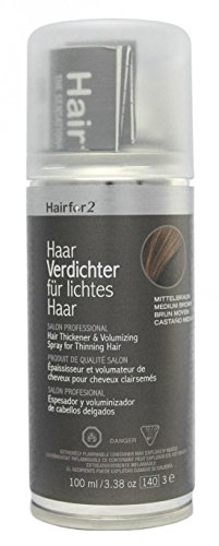 Hairfor2 Haarverdichter Spray, mittelbraun, 1er Pack, (1x 100 ml)