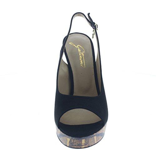Gattinoni , Sandales pour femme Noir