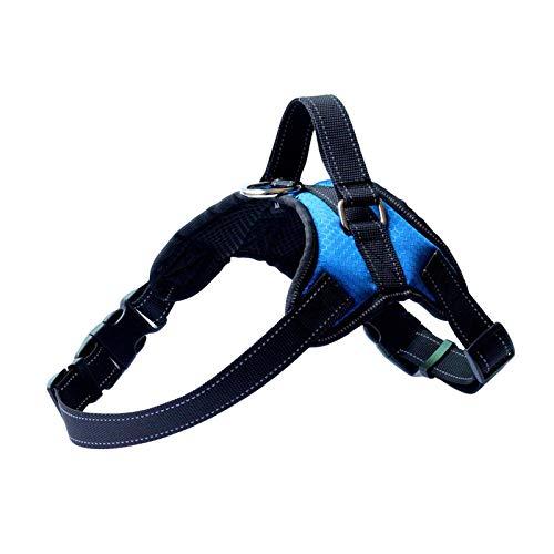 Schlag Hals (AHJSN Pet BrustgurtReflektierende WesteBrustgurtMittelgroßer Hund Explosionsgeschützter Schlag XL Brust 65-90 cm/Hals 57-76 cm Blau/Kabellos)