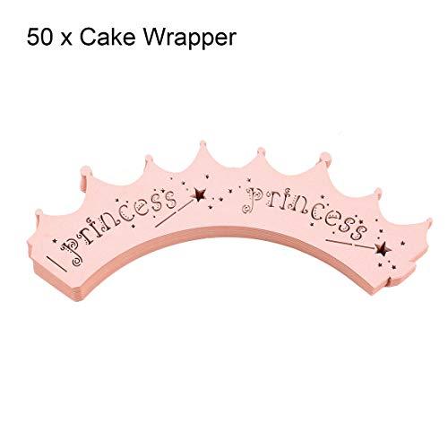 Funnyrunstore 50 stücke Laser Cut Cupcake Wrapper Crown -