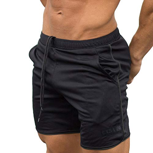 JiaMeng Pantalón Corto Pantalones Entrenamiento Deportivo
